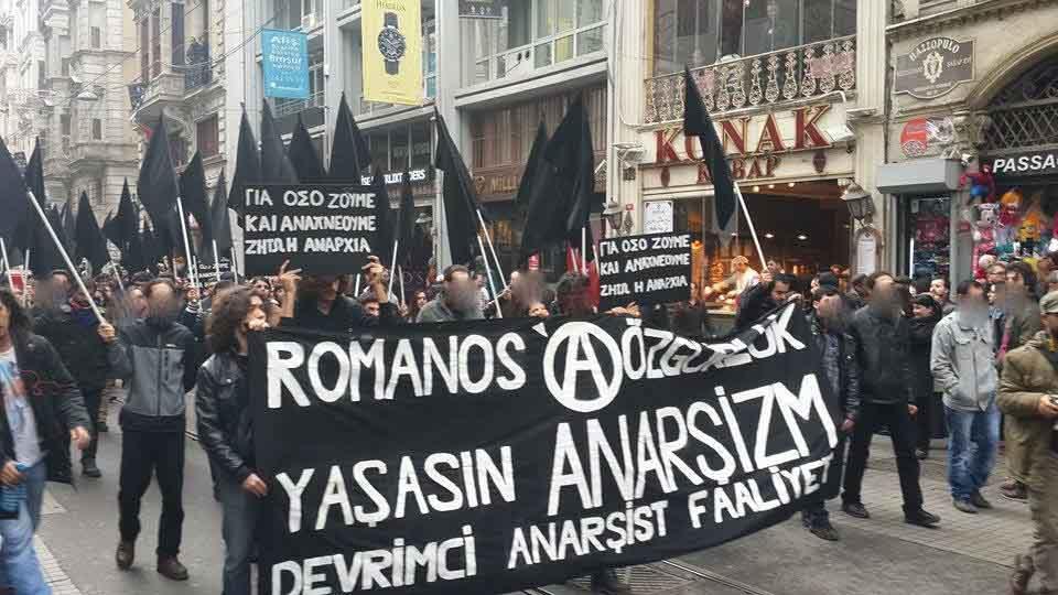 """""""Liberdade para Romanos – Viva o anarquismo – Ação Revolucionária Anarquista (DAF)"""""""