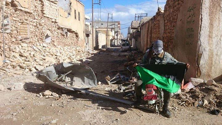 """(A cidade de Kobane, destruída após a batalha contra o """"Estado Islâmico"""")"""